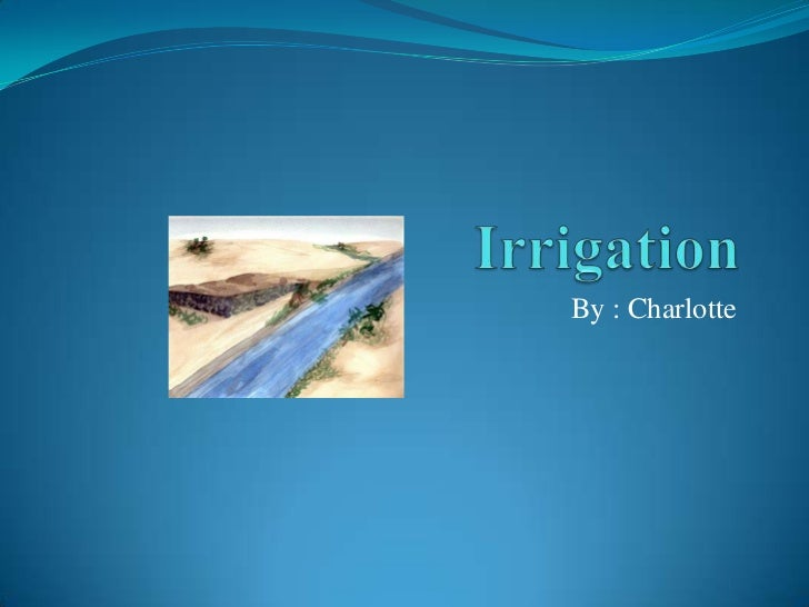 Irrigation Ppt