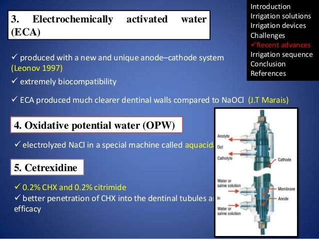 3. Electrochemically (ECA)  activated  water   produced with a new and unique anode–cathode system (Leonov 1997)  extrem...
