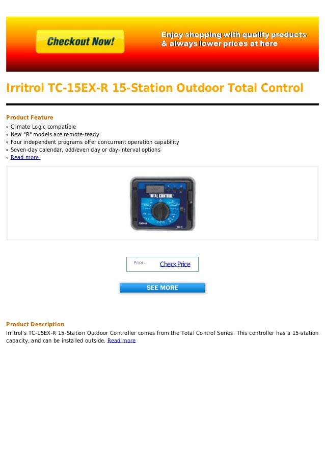 Irritrol tc 15 ex-r 15-station outdoor total control