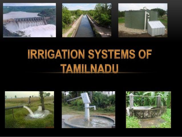 Irrigation Systems Of Tamilnadu