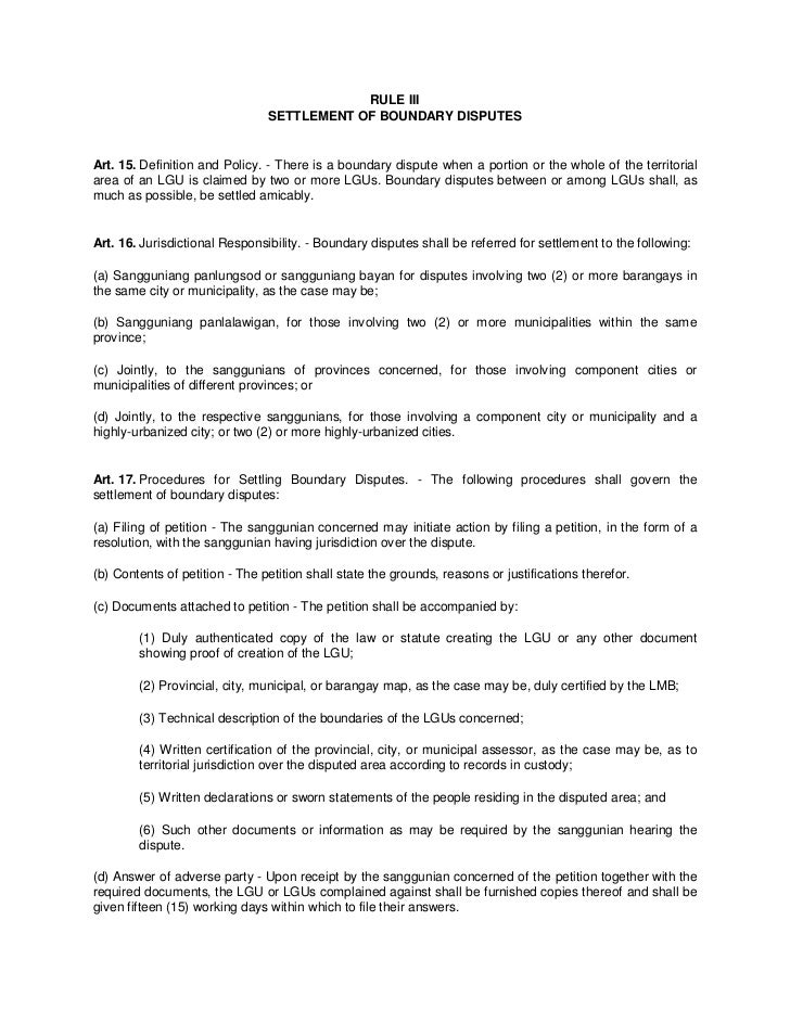 Implementing Rules Of The Local Government Code Of The