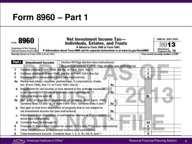 Explore The New IRS Form For Net Investment Income Tax