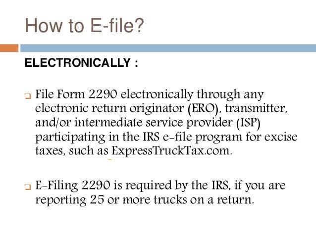 irs road tax form 2290