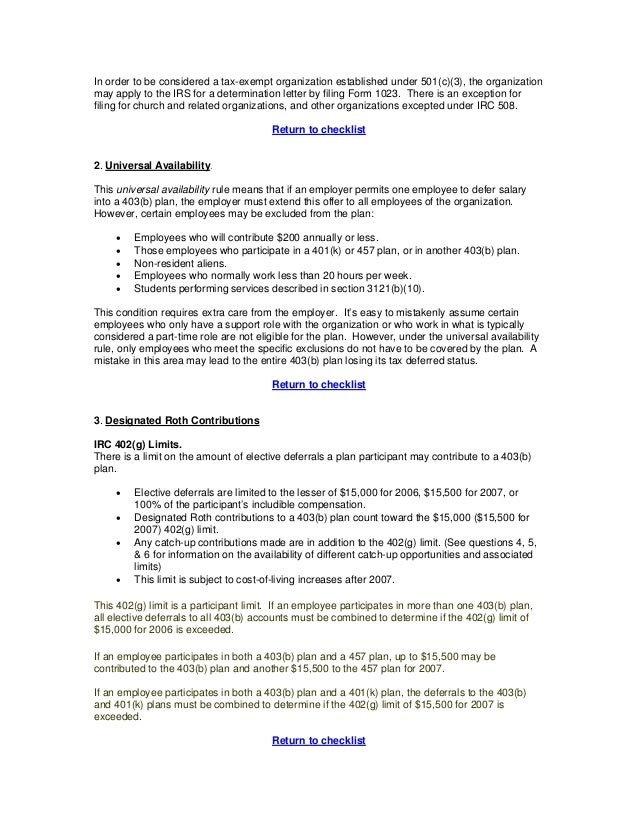 IRS 403(b) Regulations