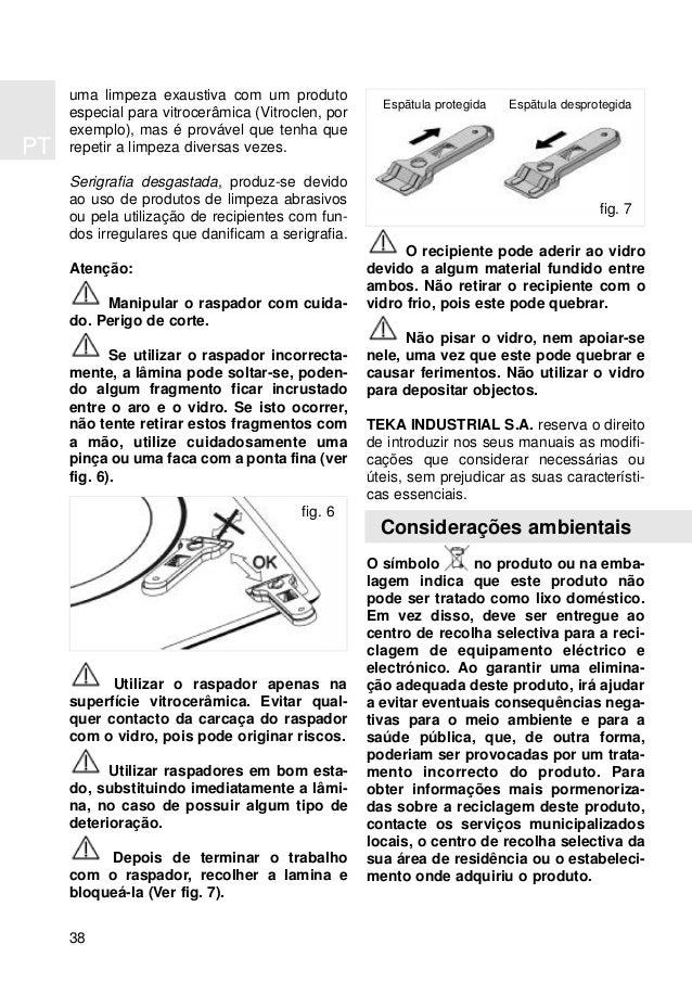 PT 38 uma limpeza exaustiva com um produto especial para vitrocerâmica (Vitroclen, por exemplo), mas é provável que tenha ...