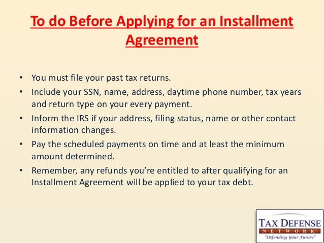 Learn More About Irs Installment Agreements For Tax Debts