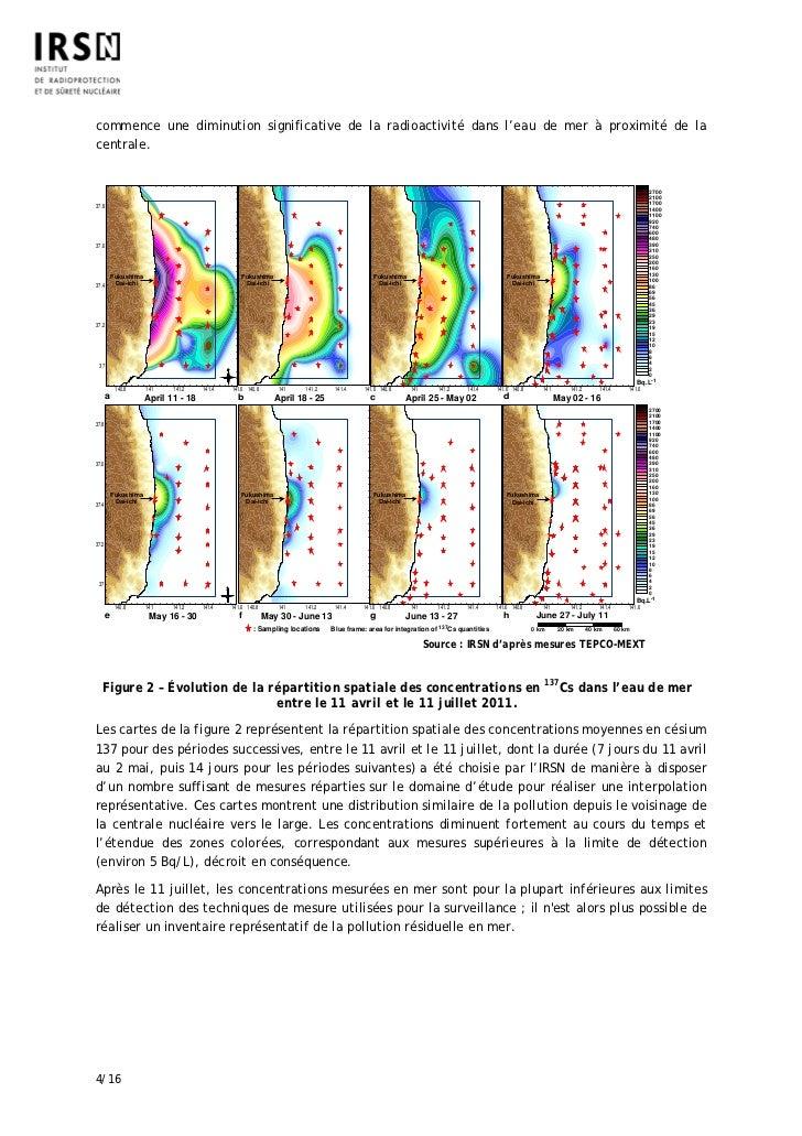 commence une diminution significative de la radioactivité dans l'eau de mer à proximité de lacentrale.                    ...