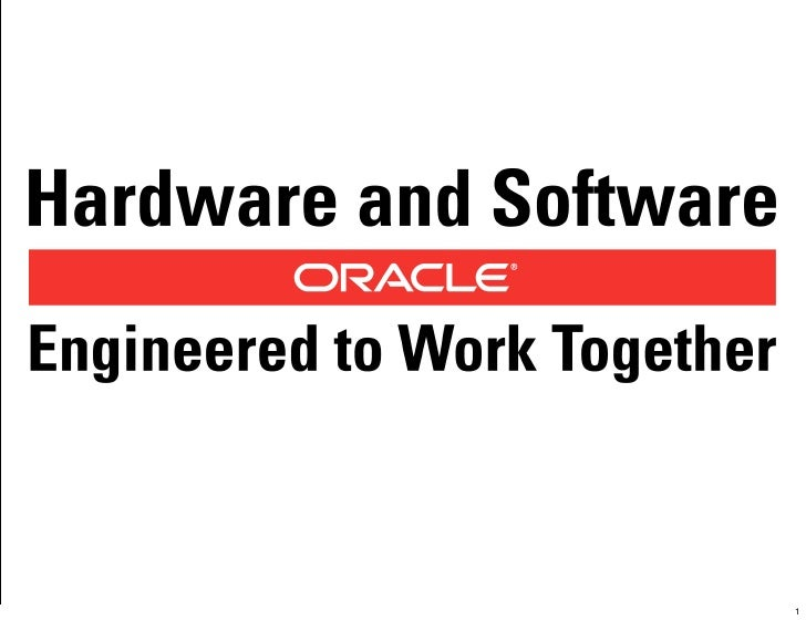© 2010 Oracle Corporation   1                                1