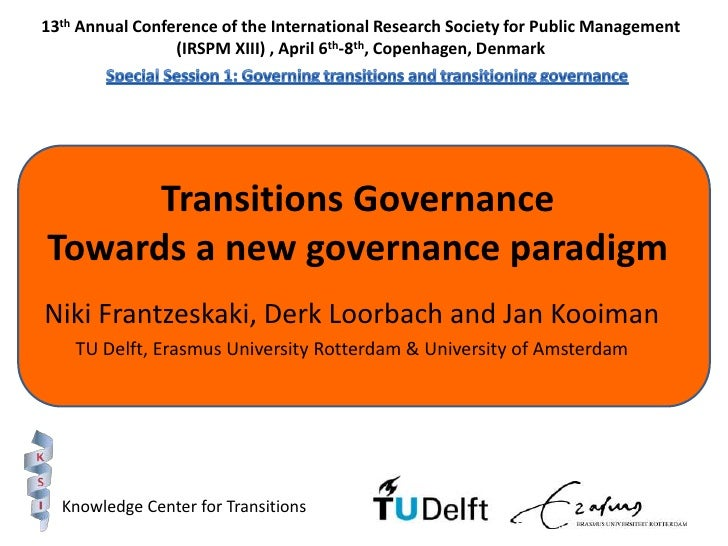 13th Annual Conference of the International Research Society for Public Management (IRSPM XIII) , April 6th-8th, Copenhage...