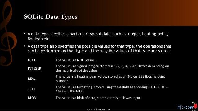 IR SQLite Session #1