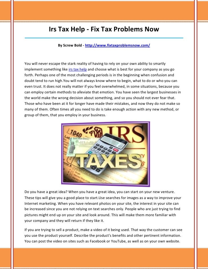 Irs Tax Help - Fix Tax Problems Now______________________________________________________________________________         ...