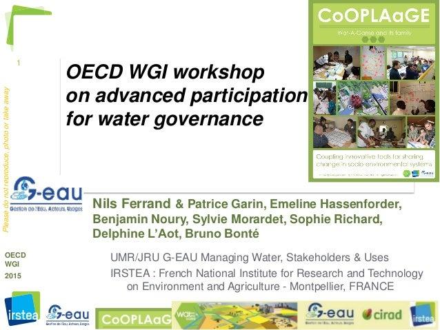 1 http://watagame.info © Nils.Ferrand@IRSTEA.fr , 2015 OECD WGI 2015 Pleasedonotreproduce,photoortakeaway OECD WGI worksho...