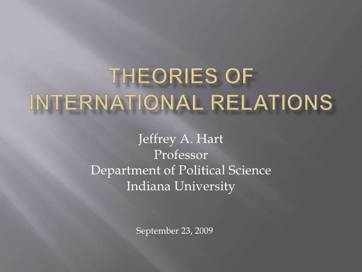 THEORIES of International Relations<br />Jeffrey A. Hart<br />Professor<br />Department of Political Science<br />Indiana ...