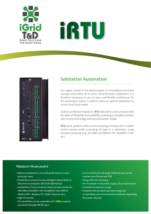 iRTU                                          Substation Automation                                          For a good co...