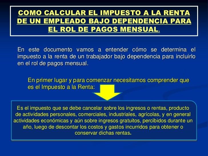 calculo impuesto a la renta 2016 peru sunat calculo de