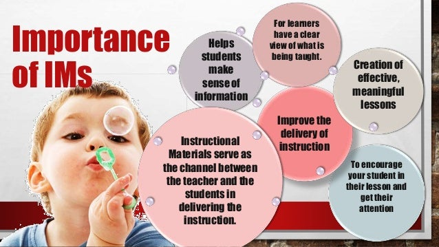 Guiding Principles In The Selection And Use Of Instructional Materials