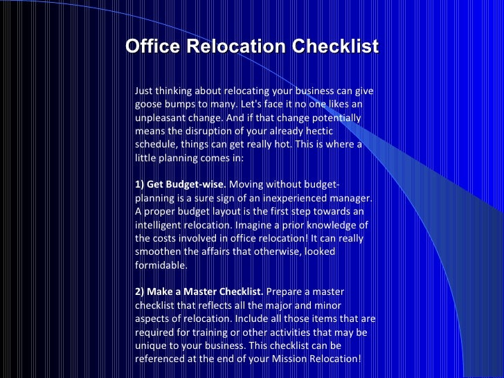 relocating check list