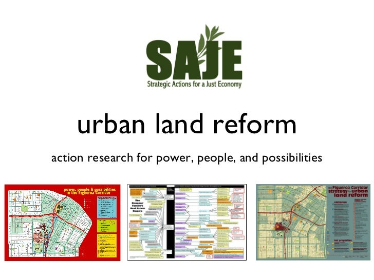 urban land reform <ul><li>action research for power, people, and possibilities </li></ul>
