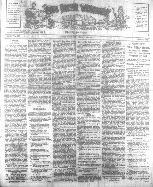 Irish Worker 30 August 1913