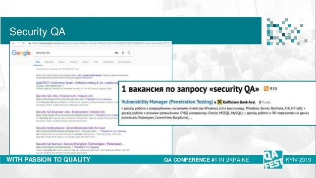 QA Fest 2019. Ирина Бондарук. Breaking into information security Slide 2