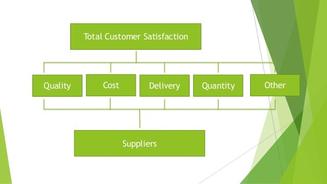 Total Customer Satisfaction Suppliers Quality Cost OtherQuantityDelivery