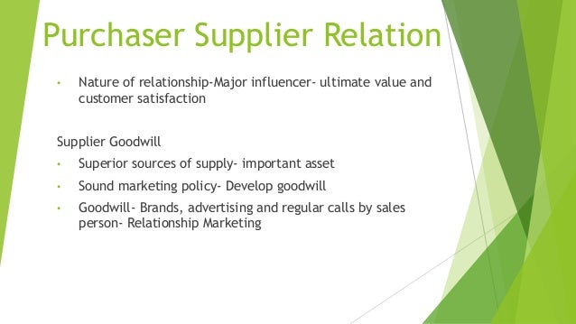 importance of supplier relationships