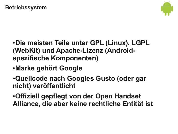 Entwicklungswerkzeuge  SDK: Frei herunterladbar, Quellcode nur im  ●  Repo  ●Windows, Mac, Linux  ●ADT-Plugin für Eclipse ...