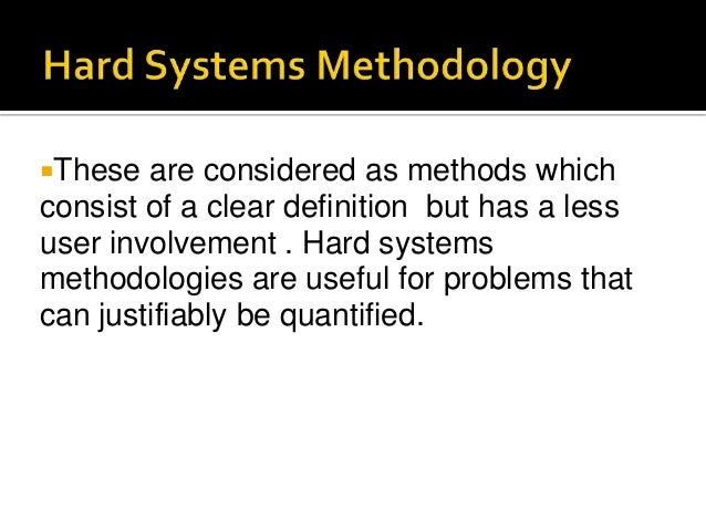 Software Development Methodologies-HSM, SSADM