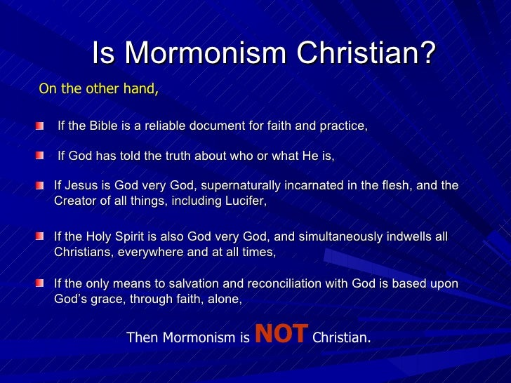 a discussion on mormonism as a christian denomination