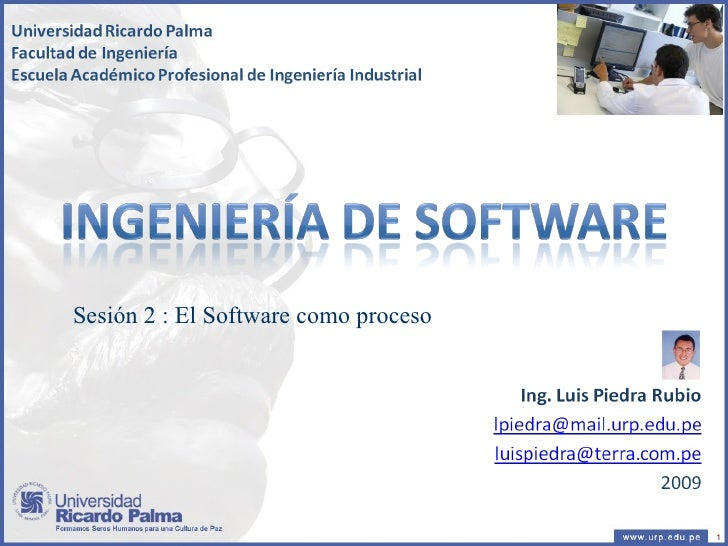 Sesión 2 : El Software como proceso