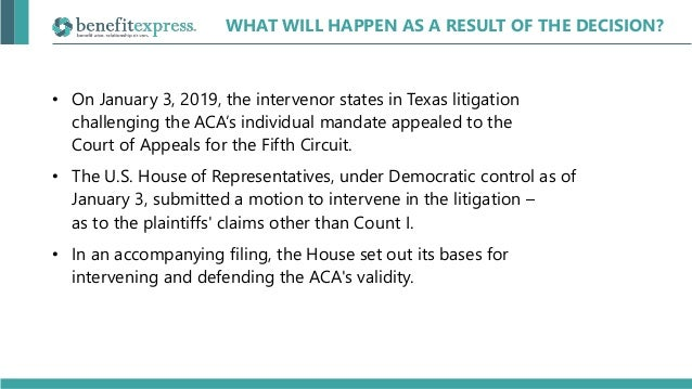 Webinar | Texas vs  United States - The Repeal of ACA?