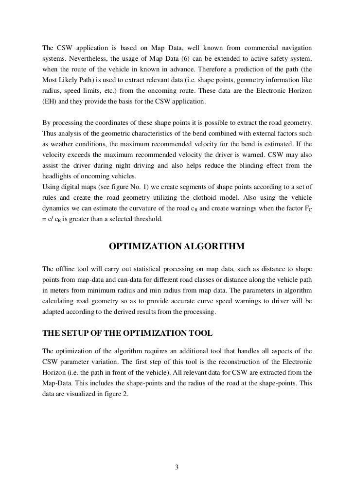 Offline Optimization Of Curve Speed Warning Applications, Vassilis Kaffes, ICCS Slide 3