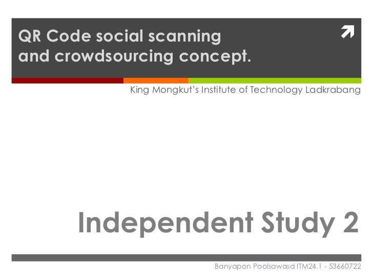 QR Code social scanning                                      ì and crowdsourcing concept.            King Mongkut's Ins...