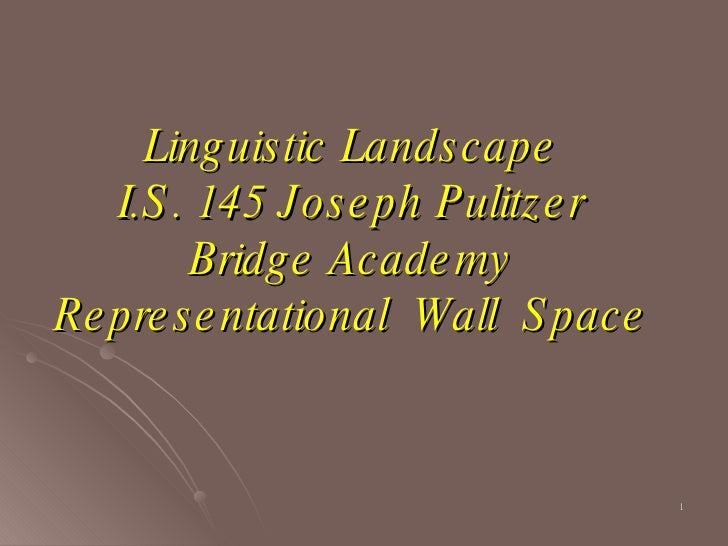 Linguistic Landscape I.S. 145 Joseph Pulitzer Bridge Academy Representational  Wall  Space