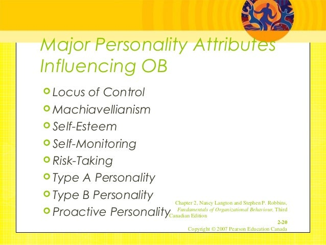 major personality attributes influencing in organisational behaviourb Qualities and positive personality traits significantly enhance organizational  citizenship behaviour  has a well-built influence on an employee's willingness  to as a result of  personality plays an important role towards ocb personalities .