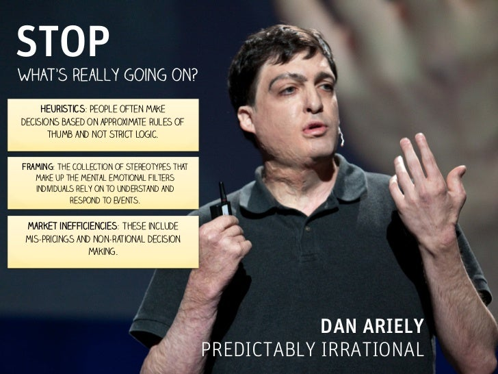 STOPWHAT's really going on?     Heuristics: People often makedecisions based on approximate rules of       thumb and not s...
