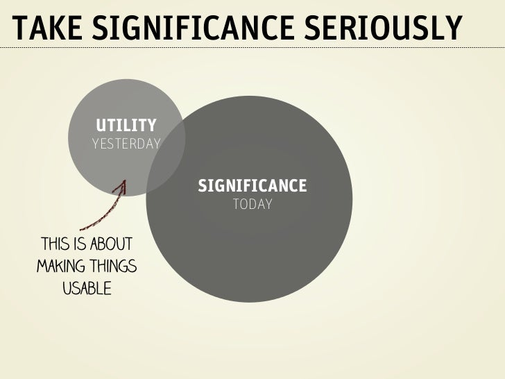 TAKE SIGNIFICANCE SERIOUSLY                                   this is about                                   making thing...