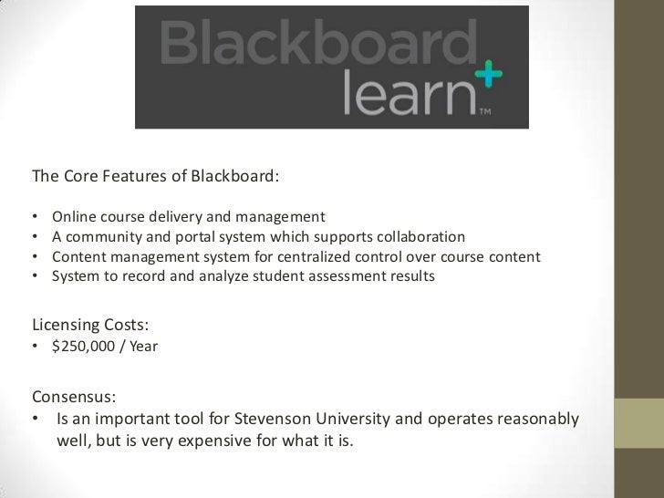 The Core Features of Moodle:•   Offers all of the same features as Blackboard right out of the box.•   Is Open Source so S...