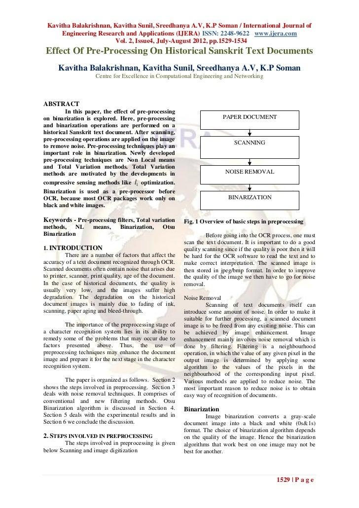 Kavitha Balakrishnan, Kavitha Sunil, Sreedhanya A.V, K.P Soman / International Journal of     Engineering Research and App...