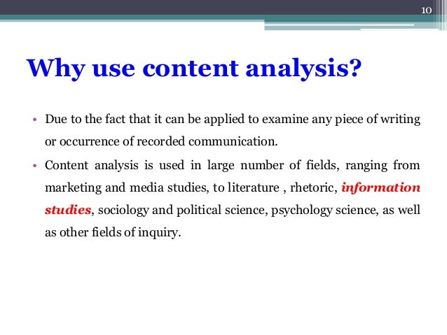 writing a content analysis