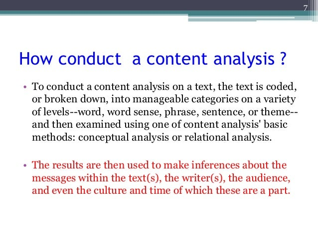 content analysis research paper pdf