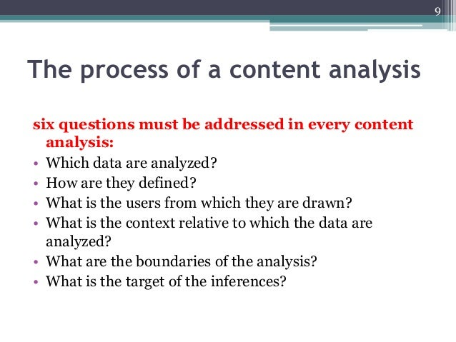 Content Analysis Example Yeniscale