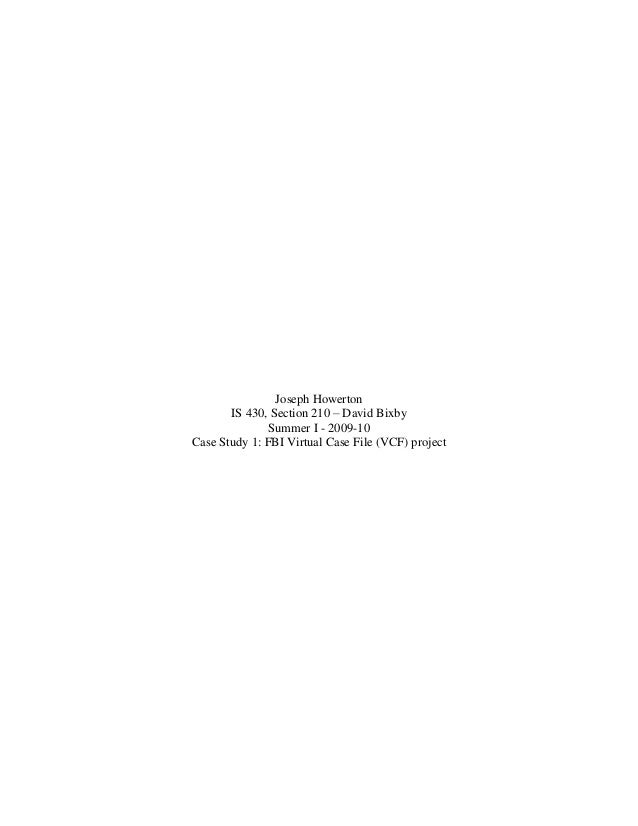 fbi virtual case file