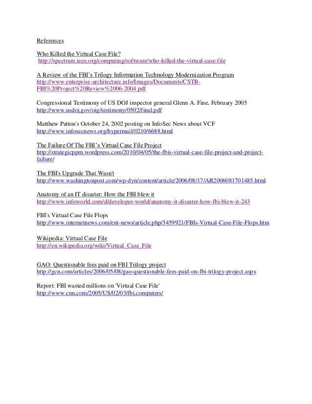virtual case file case study