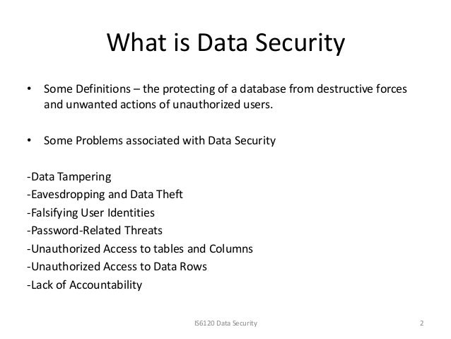 Is6120 data security presentation