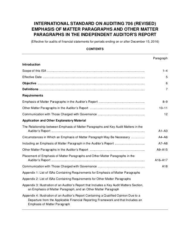 ISA: 706-Revised