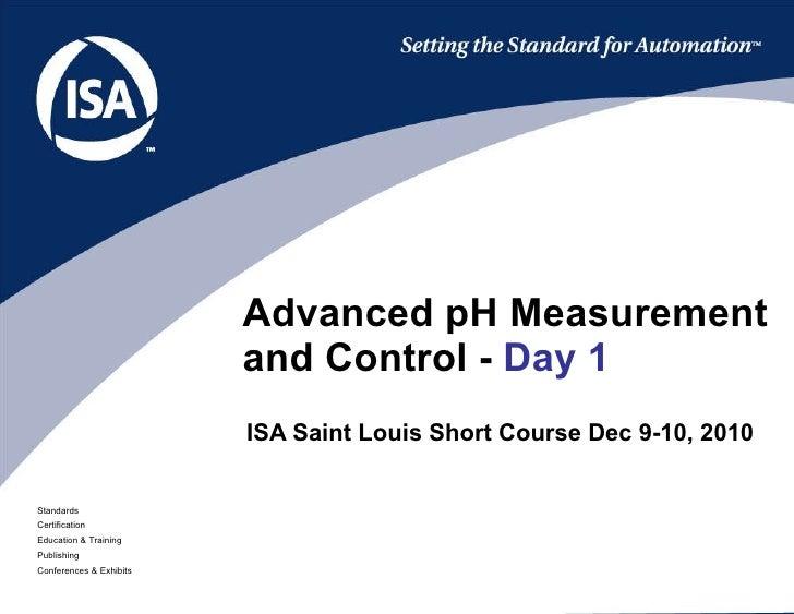 Isa saint-louis-advanced-p h-short-course-day-1