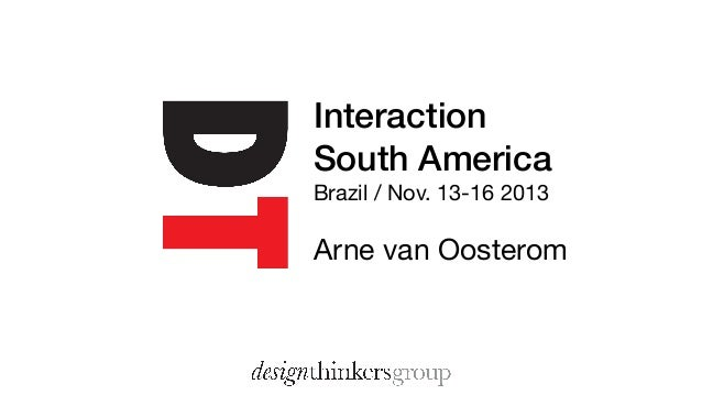 Interaction South America Brazil / Nov. 13-16 2013  Arne van Oosterom