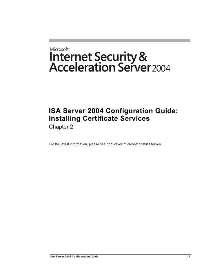 Isa2004 Configuration Guide