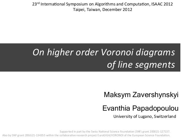 23rd Interna3onal Symposium on Algorithms and Computa3on, ISAAC 2012                                    ...